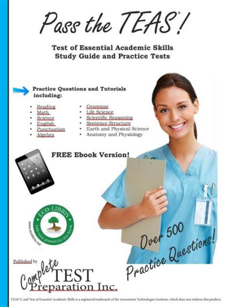 Pass The Teas V Complete Teas 5 Study Guide With Practice Test Questions By Complete