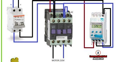 maniobra con contactor y reloj horario esquemas el 233 ctricos