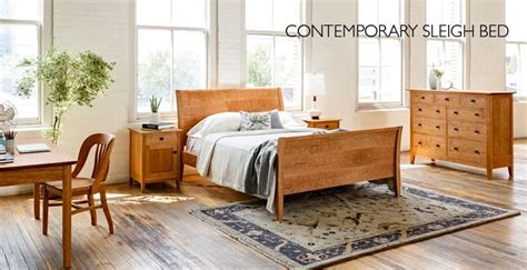 contemporary sleigh bed  joinery portland oregon