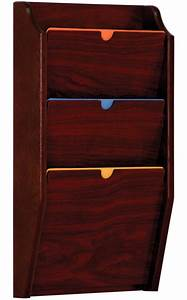 Hanging Chart Holders Wall File Holder Chart Rack With Three Tiers
