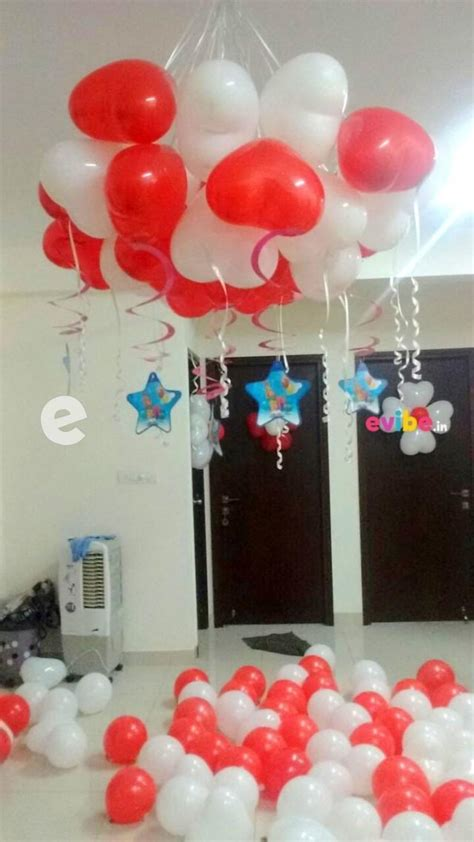 best home decor with heart shaped balloons birthday