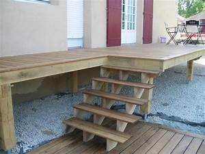 Escalier Terrasse Bois : terrasse bois escaliers charpente g cardineau deux ~ Nature-et-papiers.com Idées de Décoration