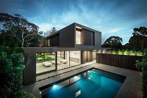 maison design avec des couleurs chaudes With maison design avec piscine