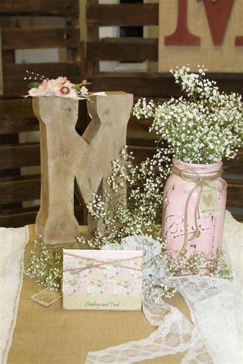 rustic wedding centerpiece banquest showers
