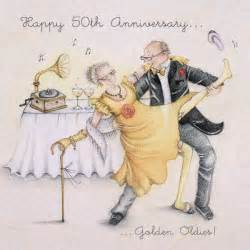 fiftieth wedding anniversary happy 50th anniversary card 39 golden oldies 39