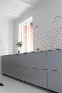 Ikea Küche Veddinge : ikea veddinge grey kitchen subway tiles home pinterest k che k che einrichten und ikea k che ~ Eleganceandgraceweddings.com Haus und Dekorationen