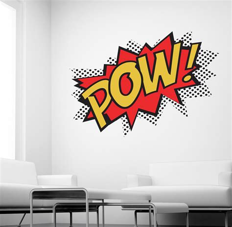 wall mural decals uk pow wall sticker comic decals k27 ebay