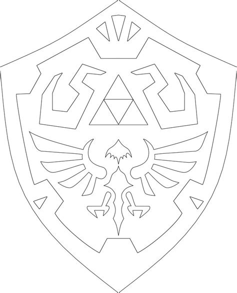 zelda shield template legend  zelda sword shield
