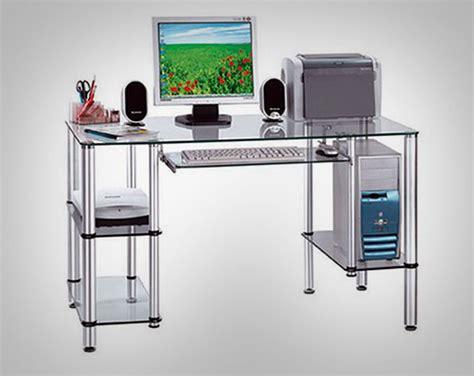 glass table computer desk furniture gallery glass computer desk design