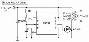 Electronic Hobby Circuits  Flyback Driver Circuit With