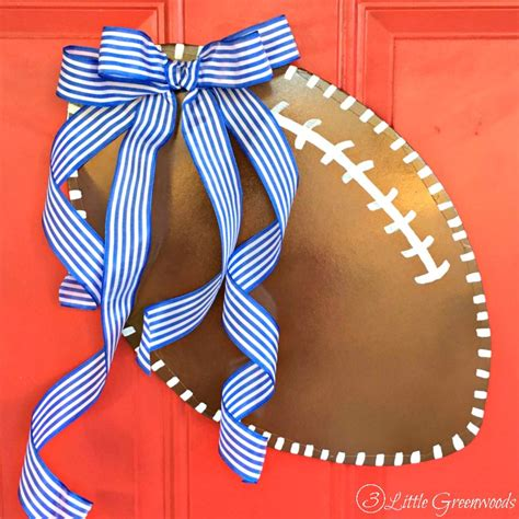 diy door hanger how to make a football door hanger