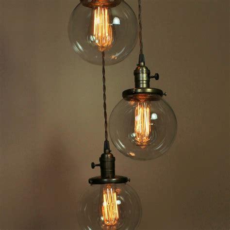 chandelier lighting pendant lights w 6 inch clear glass