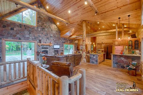 golden eagle log  timber homes log home cabin pictures  custom hybrid