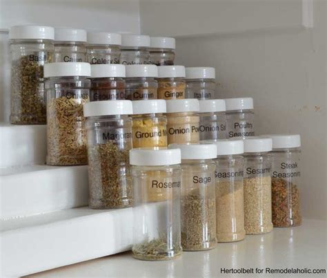 Tier Spice Rack by Remodelaholic How To Build An Easy Tiered Spice Rack
