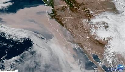 California Satellite Wildfires West Imagery Animated Coast