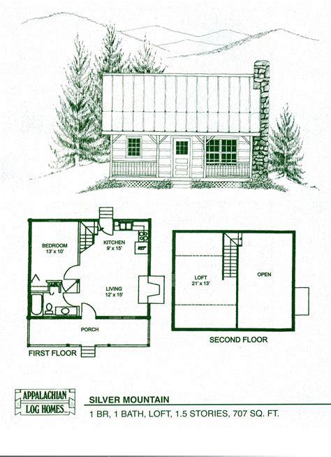 small cabin  loft floorplans    small