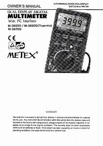 Metex M 3850d User Manual Eng Service Manual Download