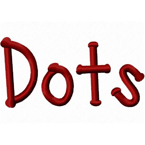 dot monogram font images machine embroidery fonts  dots cool dots embroidery font