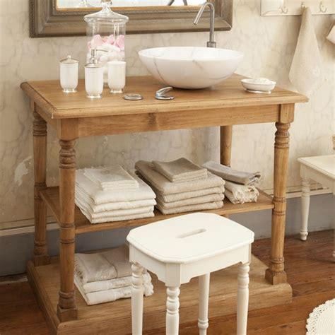 meuble de salle de bain comptoir de famille une console de salle de bain en pin massif
