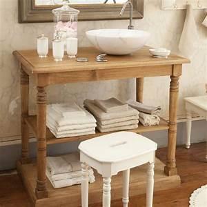 Console Salle De Bain : meuble de salle de bain comptoir de famille une petite console de salle de bain en pin massif ~ Teatrodelosmanantiales.com Idées de Décoration
