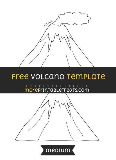 volcano template medium volcan dinosaure