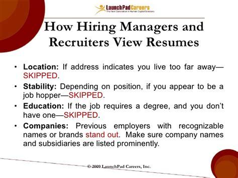 resume for the hopper