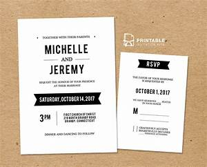 diy free pdf printable wedding invitation and rsvp With how to send wedding invitations with rsvp