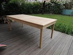 Table Exterieur Bois : table bois public ~ Teatrodelosmanantiales.com Idées de Décoration