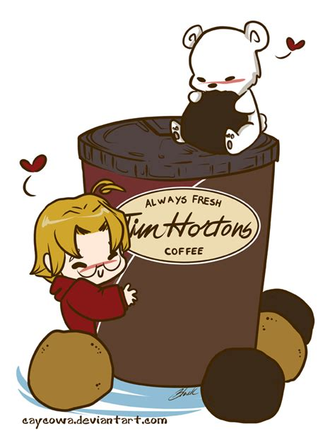 Hetalia   Canada Loves Timmies by caycowa on DeviantArt