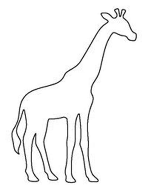simple giraffe outline giraffe body brown paper