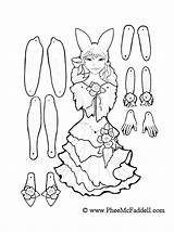 Puppet Coloring Paper Puppets Fairy Cut Dolls Colouring Printable Adult Crafts March Outs Template Doll Marionette Templates Toys Cartoon Pheemcfaddell sketch template