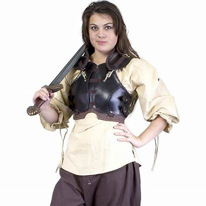 Female Armour Rogue Armor Medieval Leather Chest