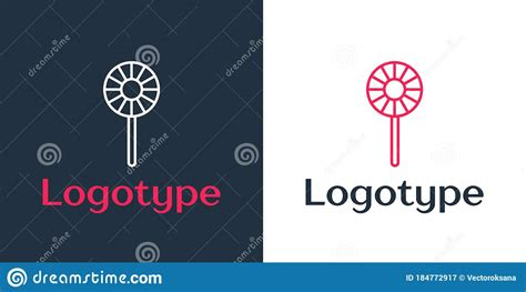 Are you searching for delicious food png images or vector? Logotype Line Lollipop Icon Isolated On White Background ...