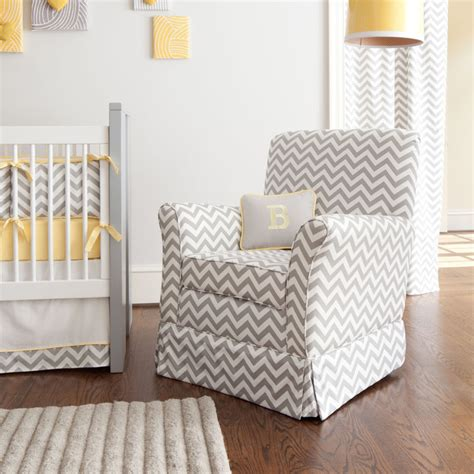 gray and white chevron chair