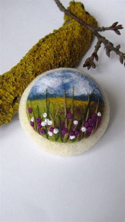 needle felted brooch irelandfelted  feltaccessories