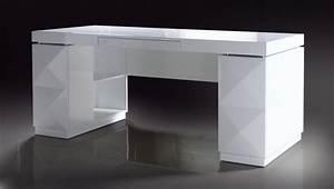 Versus Eva Vanity - White Lacquer Modern Desk - Office