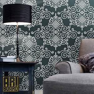 damask self adhesive DIY wallpaper home decor Peel n by ...