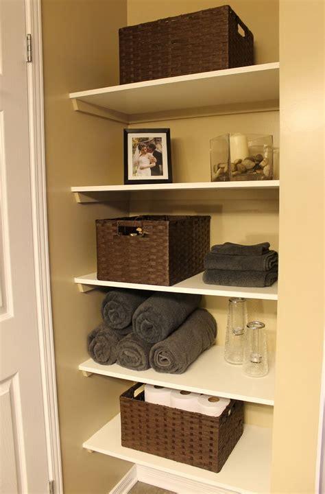 Built In Linen Closet Diy Home Design Ideas