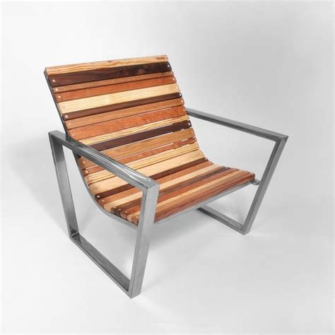 Slatted Wood Chair  Contemporary  Outdoor Lounge Chairs