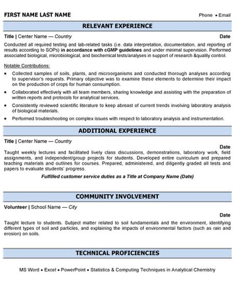 Lab Chemist Resume Sle by Resume Format For Product Manager In Pharma 28 Images Product Manager Resume 9 Free Sle Exle