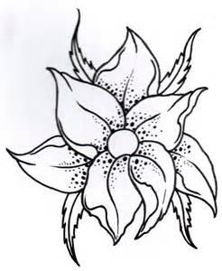 Flower Tattoo Outline Designs