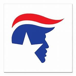 "Trump Logo Square Car Magnet 3"" x 3"" by Admin CP1570748"