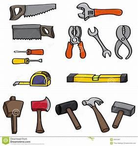 Cartoon Building Tools Set stock vector Illustration of