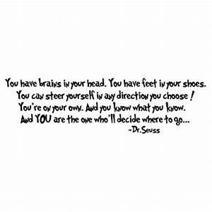 Speech Dr Seuss... Wise Graduation Quotes