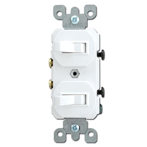hooking up a light switch white horizontal toggles with two single pole toggle switches