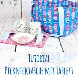 Tablett Für Kinder : kostenloses schnittmuster anleitung tutorial f r eine picknicktasche mit tablett aus hamburger ~ Orissabook.com Haus und Dekorationen