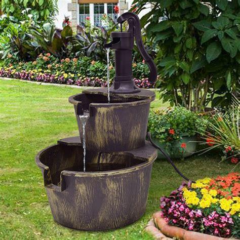 tier barrel waterfall fountain barrel water fountain