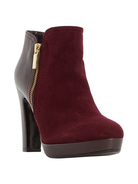 Dune Oscar High Heel Ankle Boots Berry At John Lewis