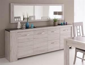 Spiegel Im Wohnzimmer : sideboard und spiegel marten 22 grau steinoptik ~ Michelbontemps.com Haus und Dekorationen