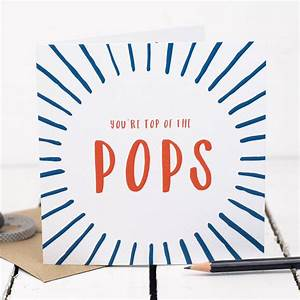 top of the pops dad birthday card by bespoke verse ...